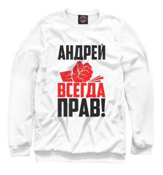 Одежда с принтом Андрей всегда прав