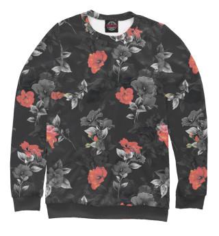 Одежда с принтом Красные цветы