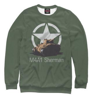 Одежда с принтом Средний танк M4A1 Sherman