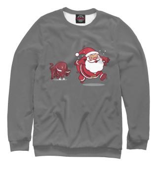 Одежда с принтом Бык и Дед Мороз
