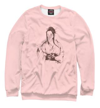 Одежда с принтом Девушка-самурай